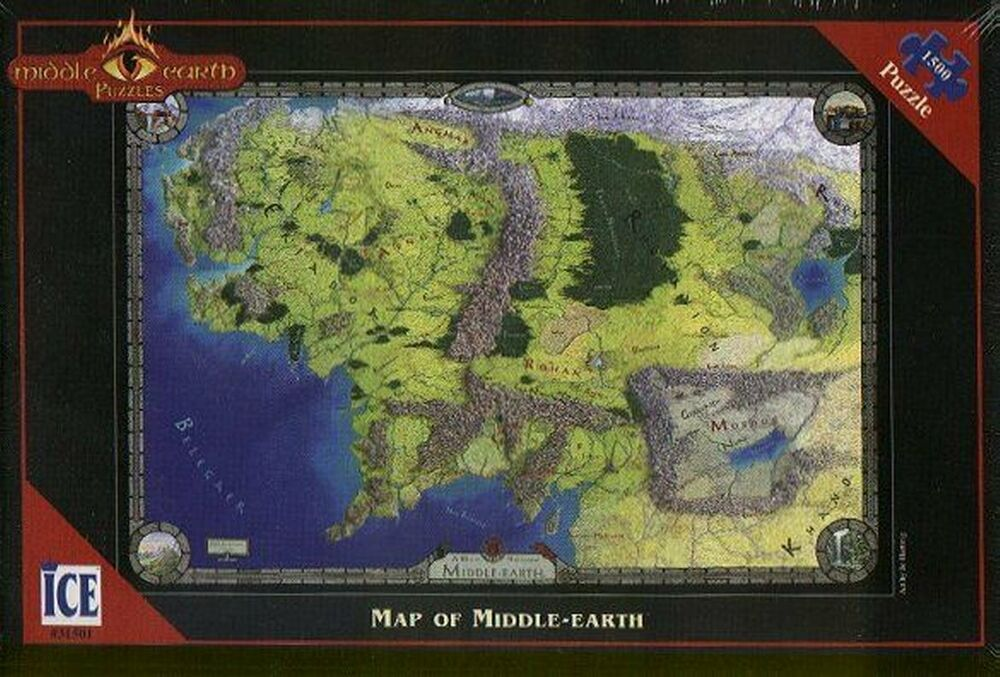 Lord of the rings middle earth puzzle map of the middle earth lord of the rings middle earth puzzle map of the middle earth ice new ebay gumiabroncs Gallery
