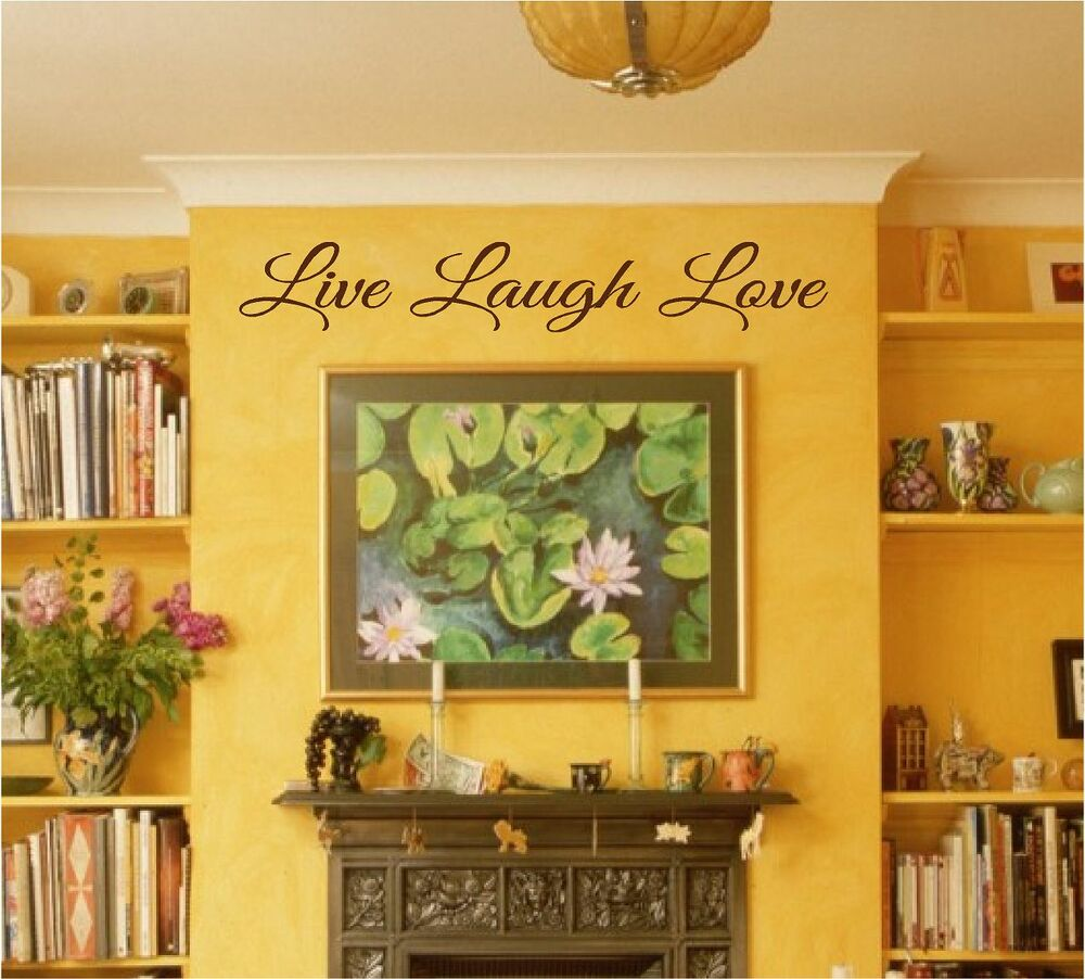 NEWEST custom LIVE LOVE LAUGH wall art ANY COLOR home