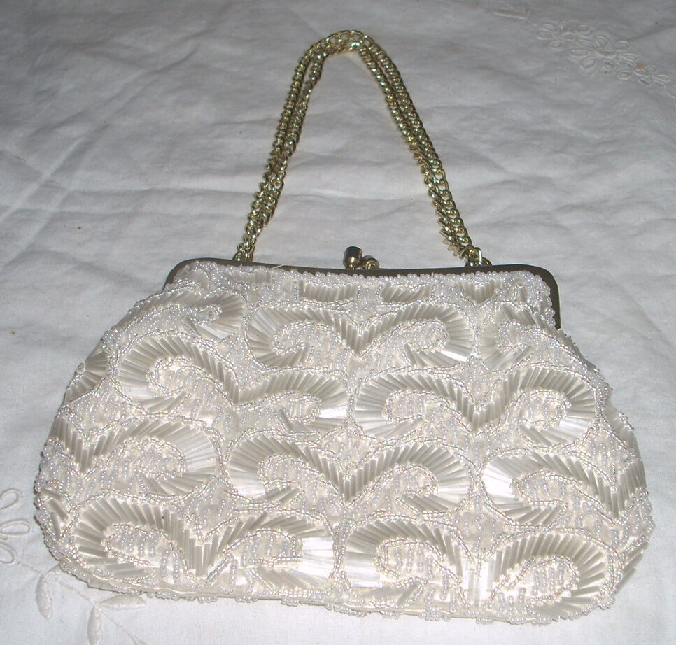 handmade la beautiful vintage la regale handmade beaded purse bag 9869