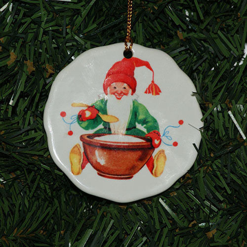 Christmas Tree Sweden: Scandinavian Swedish Tomte & Rice Porridge Christmas