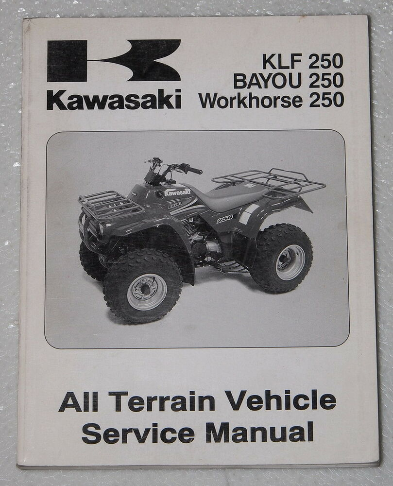 2003 KAWASAKI BAYOU WORKHORSE KLF 250 Service Manual KLF250A1 Quad ATV  Repair 03 | eBay
