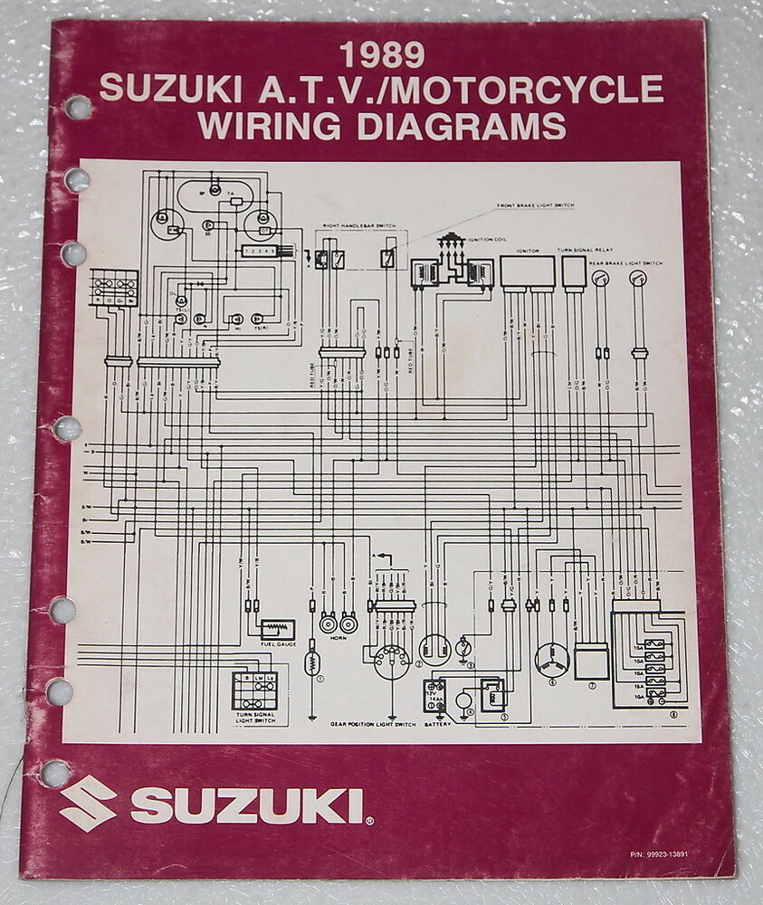 1989 SUZUKI Motorcycle and ATV Electrical    Wiring       Diagrams    Manual 89  K  Models   eBay