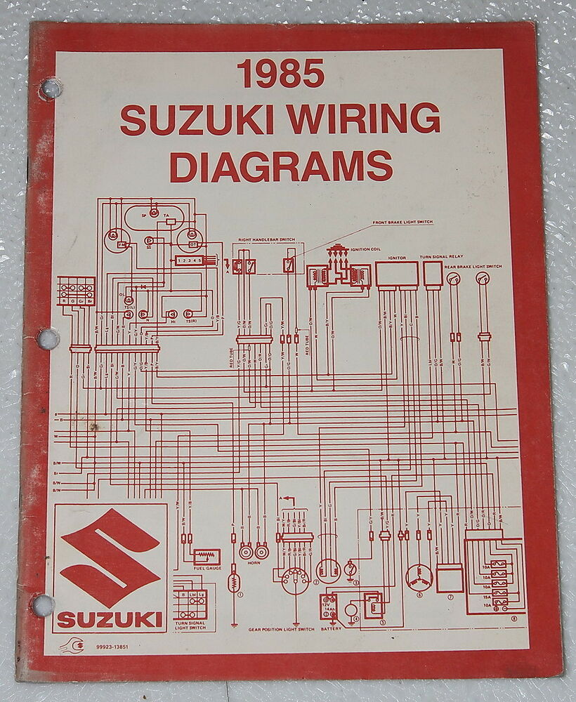 "1985 SUZUKI Motorcycle and ATV Electrical Wiring Diagrams Manual 85 ""F""  Models 