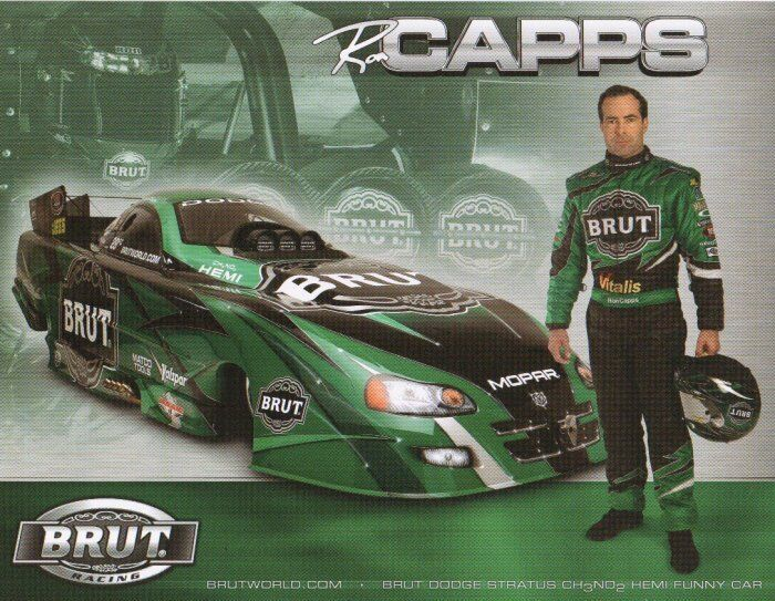 2005 Ron Capps Brut Dodge Charger Funny Car Nhra Postcard