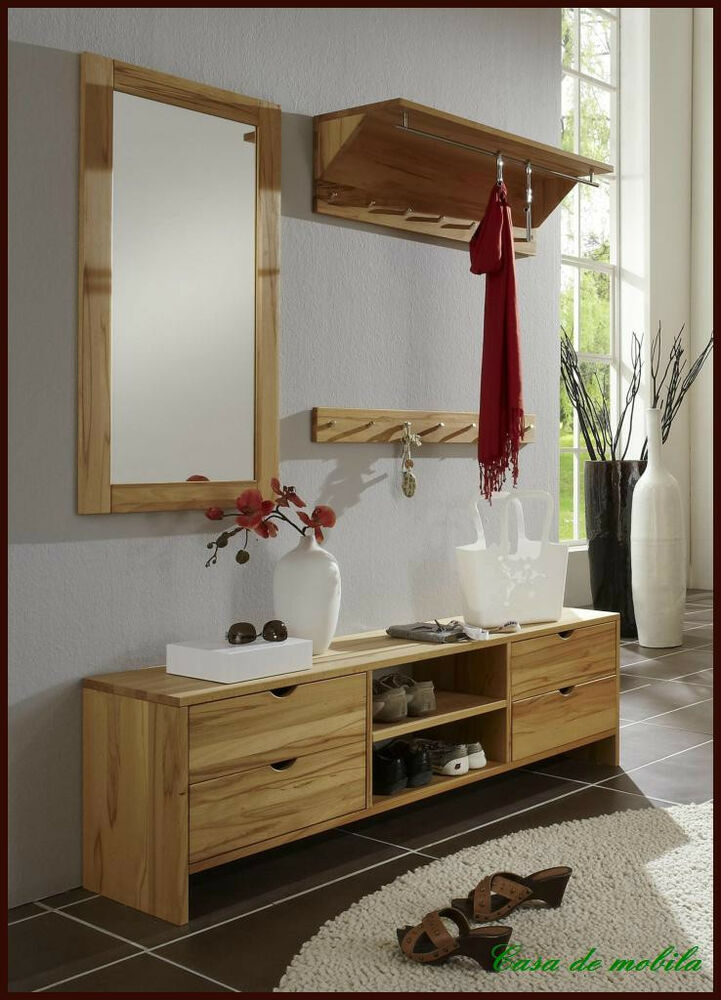 wandgarderobe garderobe garderoben set flur m bel buche kernbuche. Black Bedroom Furniture Sets. Home Design Ideas