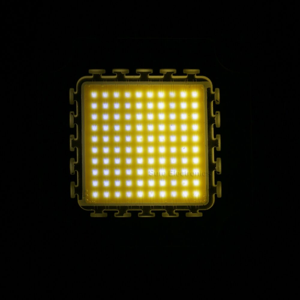 100w warm white high power led light smd chip panel 9000. Black Bedroom Furniture Sets. Home Design Ideas