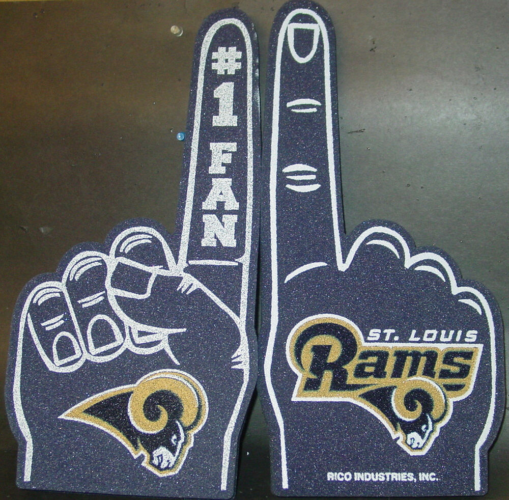 Nfl Foam Finger St Louis Rams New Ebay