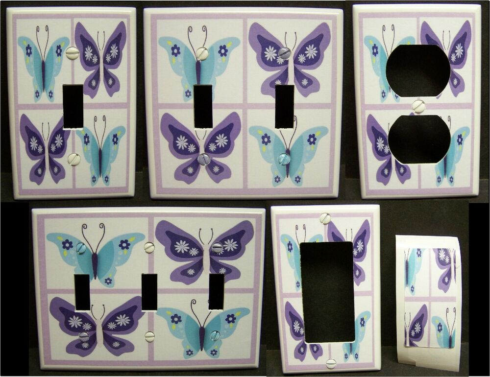 Light Switch Cover Plate Or Outlet Butterfly Shades Of