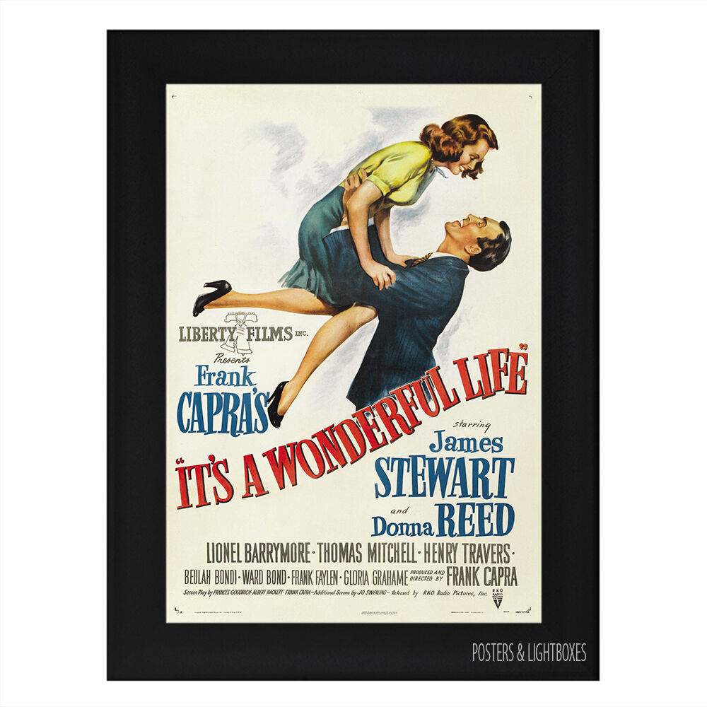Its A Wonderful Life Framed Film Movie Poster A4 Black Frame Ebay