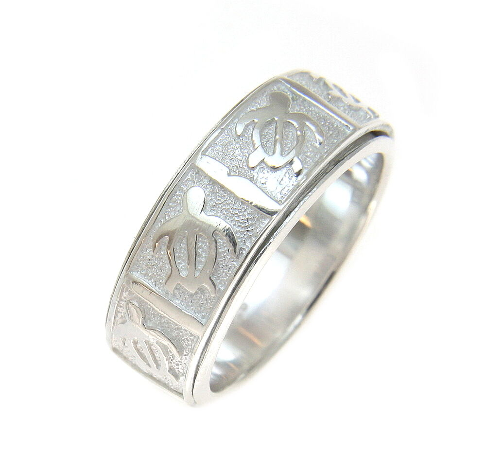 sterling silver 925 hawaiian honu turtle spin spinning ring size 5 12 ebay. Black Bedroom Furniture Sets. Home Design Ideas