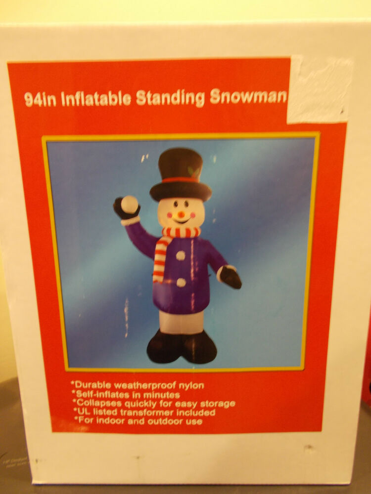 94 christmas standing snowman inflatable new airblown for Christmas decoration 94
