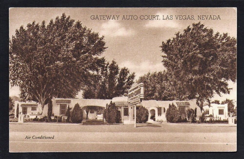 Las vegas nevada nv 1940s gateway auto court motel hwy 91 for Ebay motors las vegas