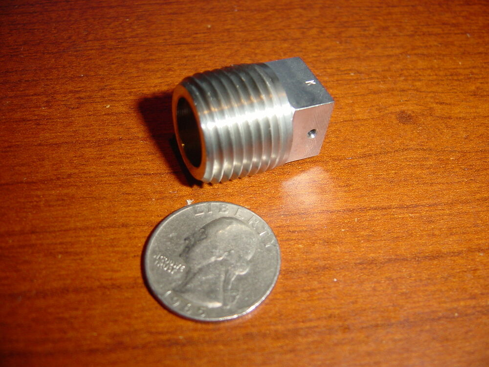 Stainless aircraft pipe plug fitting npt square
