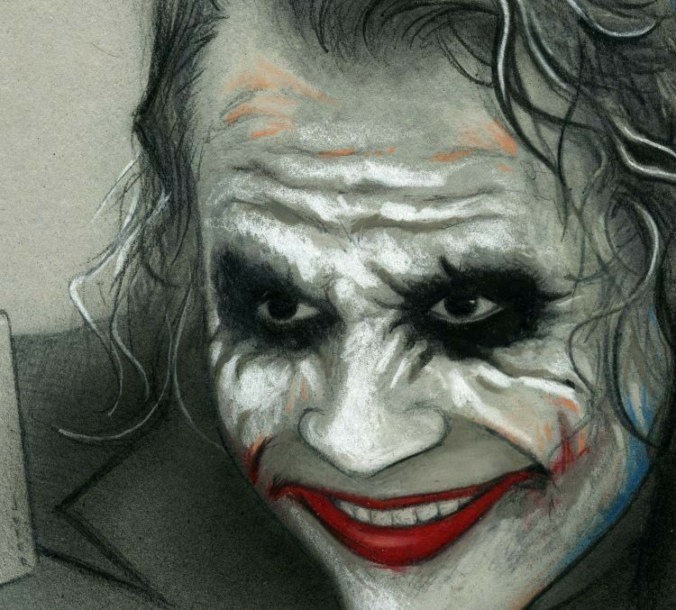 Joker dark knight drawings