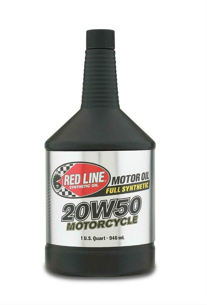 Red Line Synthetic 20w50 Motor Oil Motorcycle Harley