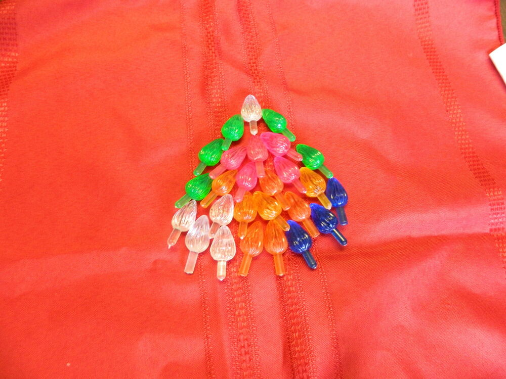 Light Up Ceramic Christmas Tree 30 Multi Colored Large