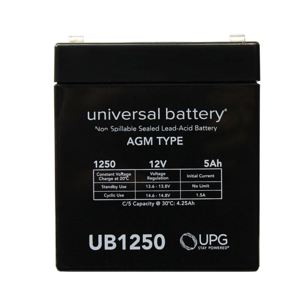 upg battery repl ritar rt series rt 1250 f1 12v 5ah each. Black Bedroom Furniture Sets. Home Design Ideas