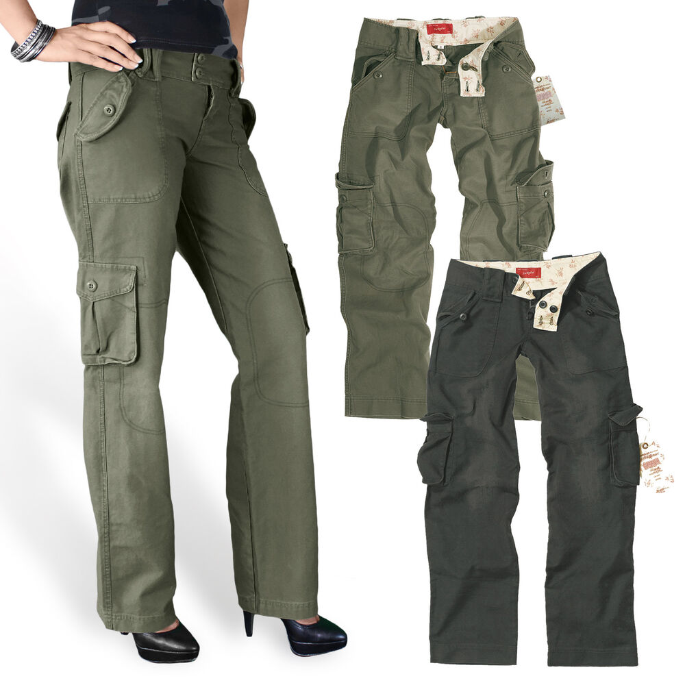 surplus ladies trouser pant damen cargo army hose vintage military premium 34 42 ebay. Black Bedroom Furniture Sets. Home Design Ideas