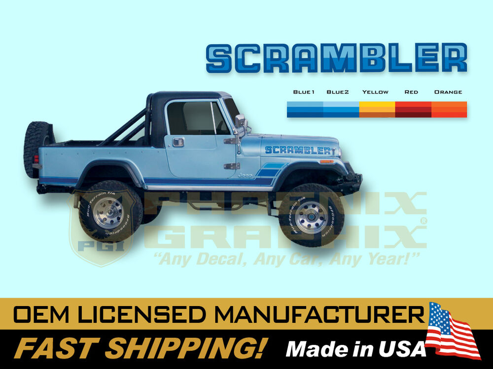 1983 1984 Jeep Scrambler CJ8 Decals & Stripes Kit | eBay