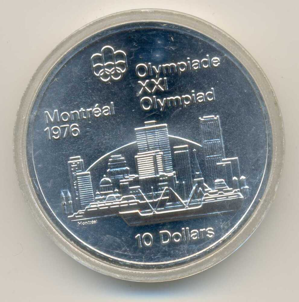 Canada Olympic Games Montreal 1976 Skyline Silver 10