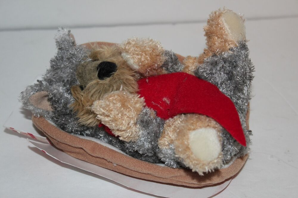 Douglas Hot Dogs Gray & Brown Yorkie Plush Toy Puppy Dog