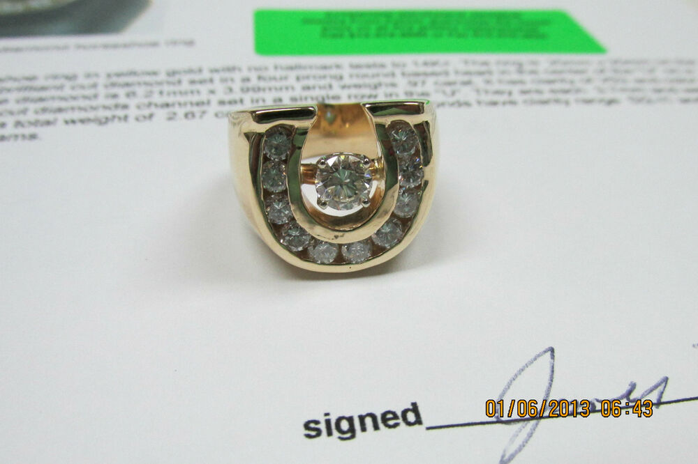 The Men S Ultimate Horseshoe Ring Huge 14k Gold Ring With