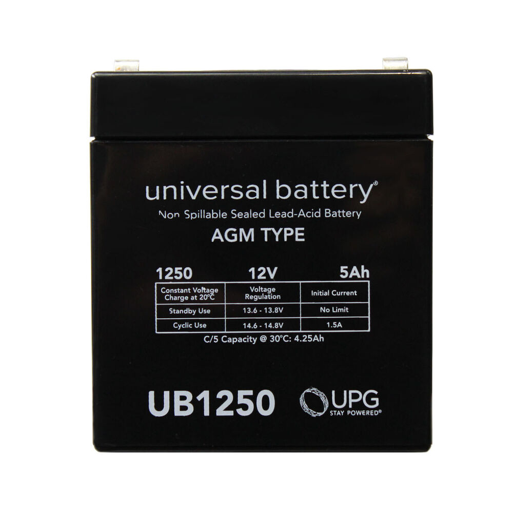 upg 12v 5ah scooter battery replaces 4 5ah enduring 6fm4 5. Black Bedroom Furniture Sets. Home Design Ideas
