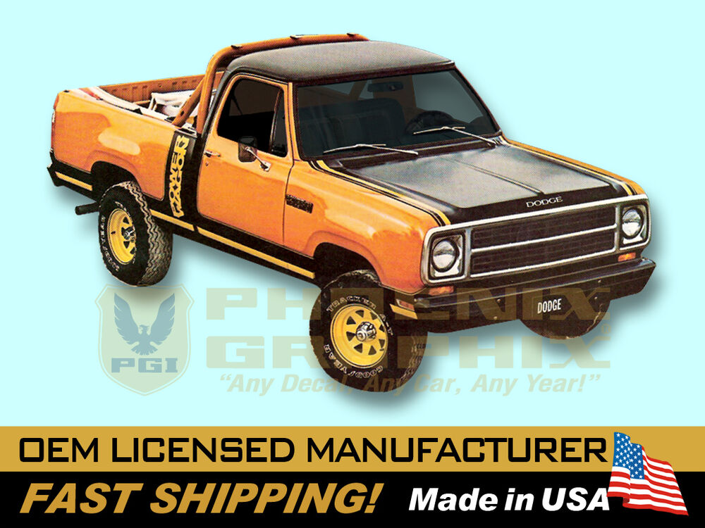 1979 1980 Dodge Macho Power Wagon Truck Decals & Stripes Kit | eBay