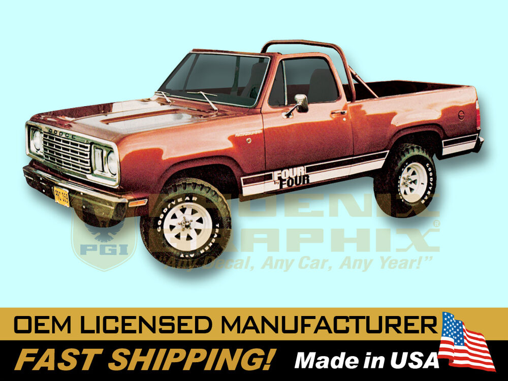 Power Wagon Stickers >> 1977 1978 Dodge Ramcharger 4 x 4 Truck Decals & Stripes Kit | eBay