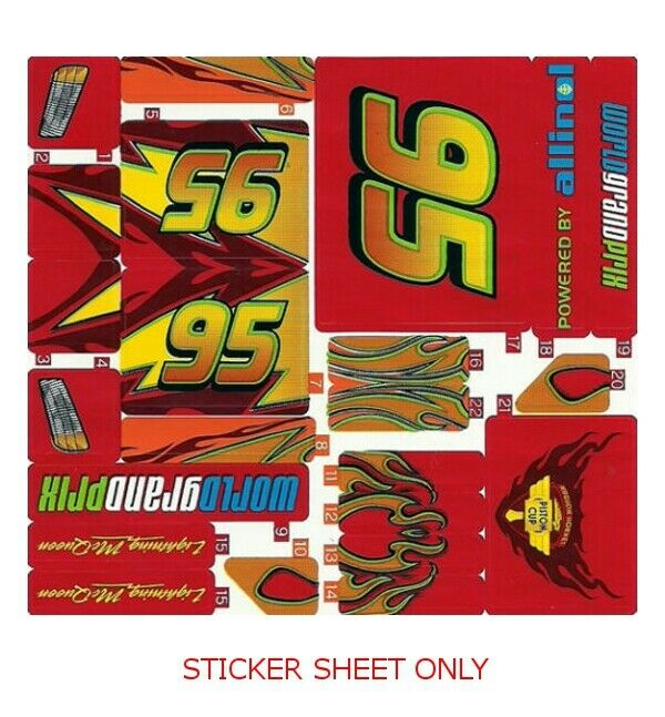 lego 8484 cars 2 lightning mcqueen sticker sheet ebay. Black Bedroom Furniture Sets. Home Design Ideas