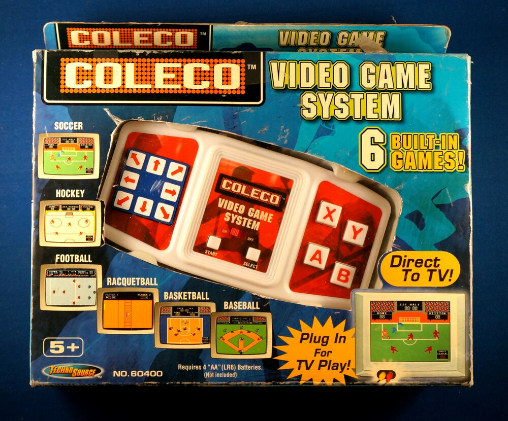 Coleco Tv Video Game System Football Soccer Hockey Plug