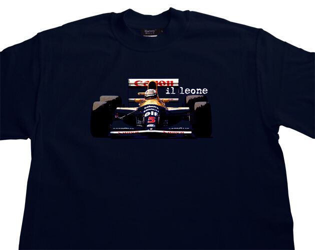 nigel mansell williams renault fw14 t shirt t shirt f1 grand prix all options ebay. Black Bedroom Furniture Sets. Home Design Ideas