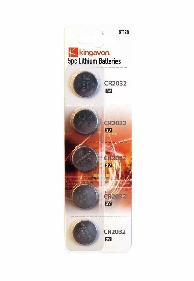 5pc Lithium Coin Batteries Cr2032 3v Remote Scales Watch