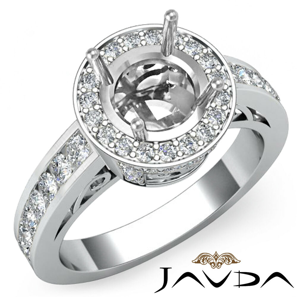 Halo Anniversary Bands: Halo Pave Diamond Anniversary Round Semi Mount Filigree