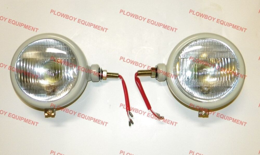 Ford Tractor Headlamp Assembly : F set of v gray head lamp lights for ford n
