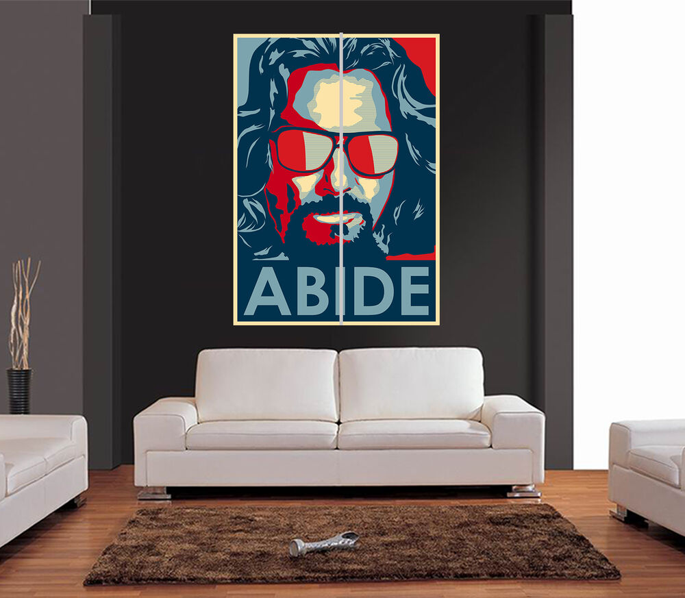 The big lebowski giant wall art print picture poster ebay for Big wall art