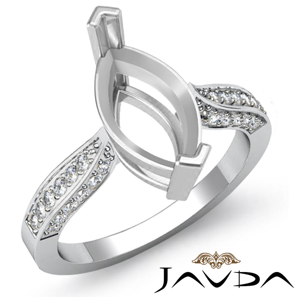 Solitaire Style Diamond Engagement Ring 14k White Gold ...