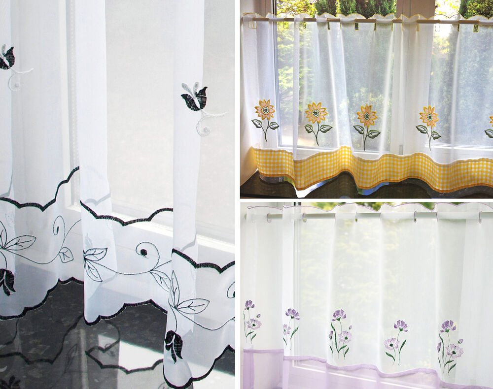 Caf net curtains kitchen nets ready made voile curtain for Cafe curtains for kitchen ideas