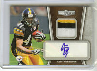 JONATHAN DWYER 2010 TOPPS UNRIVALED 3 COLOR PATCH JERSEY AUTO ROOKIE 185/249