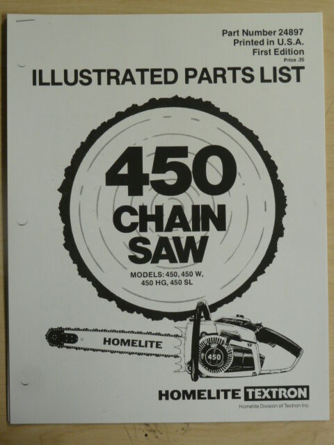 Homelite Chainsaw repair manual 3316c