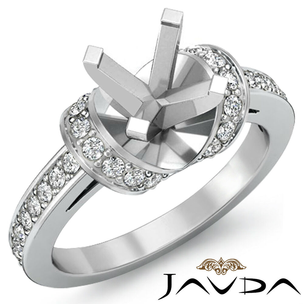 Diamond Engagement Multi Shape Women Ring Round Semi Mount