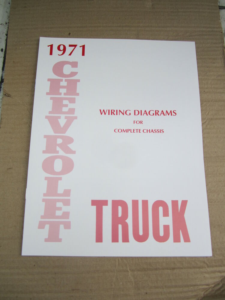 1971 Chevrolet Truck Wiring Diagram Booklet