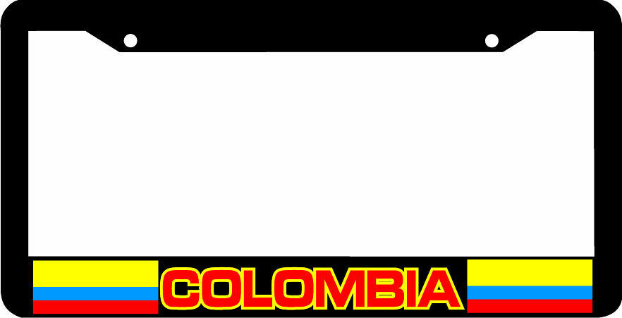 Colombia Colombian Flag License Plate Frame Ebay