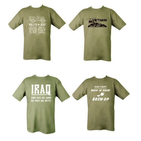 img-Mens Military British Army Combat T-Shirt Vietnam Iraq Jeep Willys Brew Up Tea