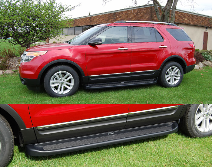 Owens Black Running Boards For 2012 2013 Ford Explorer Ebay