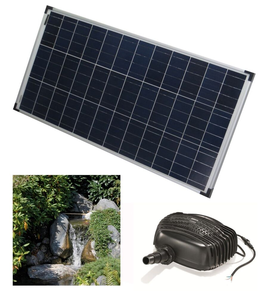 80 w solar bachlaufpumpe teichpumpe solarpumpe solarteichpumpe wasserfall teich ebay. Black Bedroom Furniture Sets. Home Design Ideas