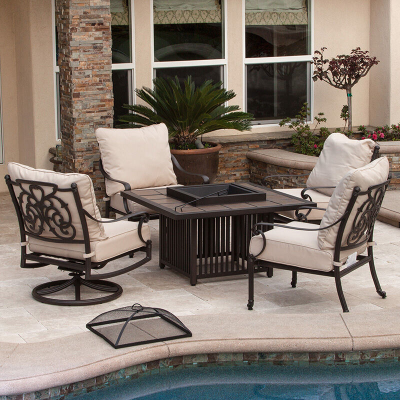 Outdoor Patio Furniture 5pcs Deep Seating Sofa Set W