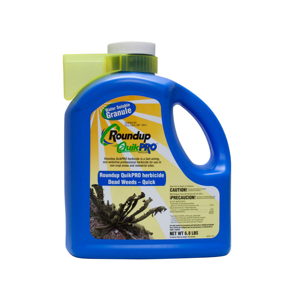 roundup quikpro 6 8 lbs glyphosate diquat weed grass killer roundup herbicide ebay. Black Bedroom Furniture Sets. Home Design Ideas