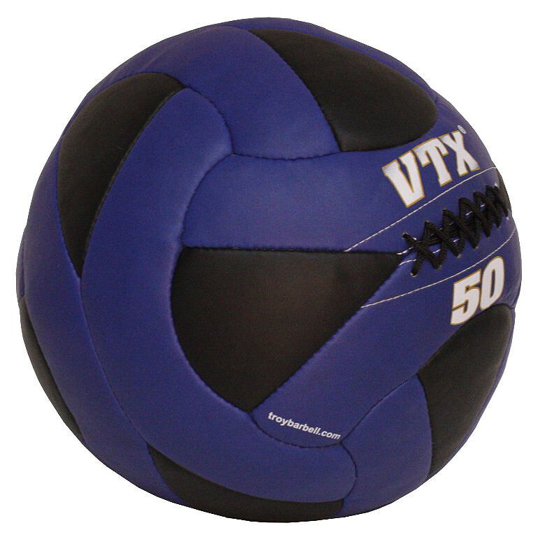 Troy VTX 50 lb Leather Wall Ball - Medicine Ball ...