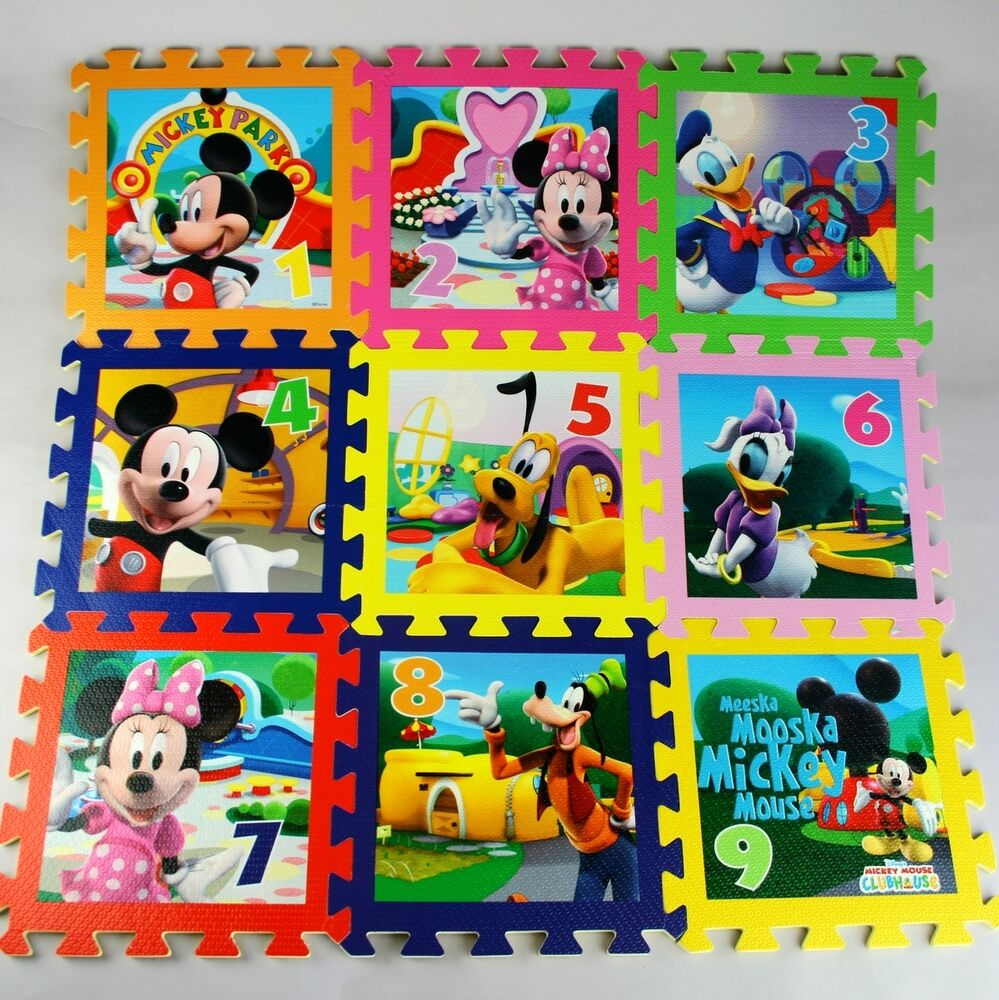 New 9 Sqft Foam Mats Disney Mickey Winner The Pooh